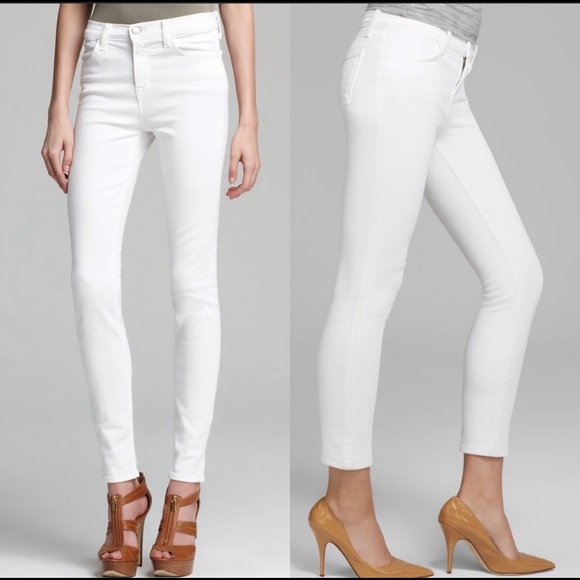 J Brand Denim - J BRAND | high rise rail skinny jeans in blanc 26